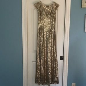 Formal gold sequin dress